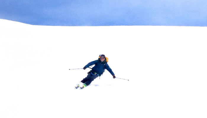 Geoff enjoys 7,000 vertical feet of powder
